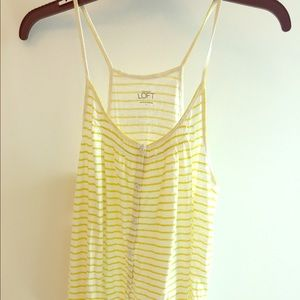 Anne Taylor LOFT tank top. Yellow and white.
